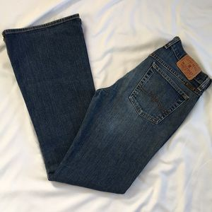 Lucky Brand Boot Cut Dungarees size 6